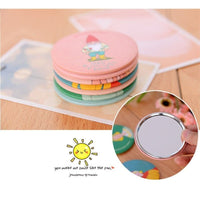 Cartoon Pattern Portable Pocket Cosmetic Mirror-Decorhomium