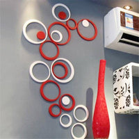 """Circles"" 3D Wall Stickers-Decorhomium"