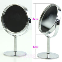 Circular Dual Sided Magnifying Stand Mirror-Decorhomium