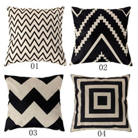 Cotton Linen Cushion Cover Pillow Case-Decorhomium