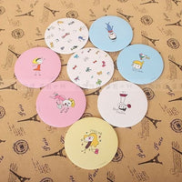 Cute Little Cartoon Portable Circular Mirror-Decorhomium
