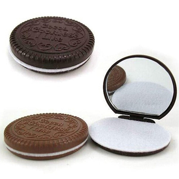 Dark Brown Cute Chocolate Cookie Mirror-Decorhomium