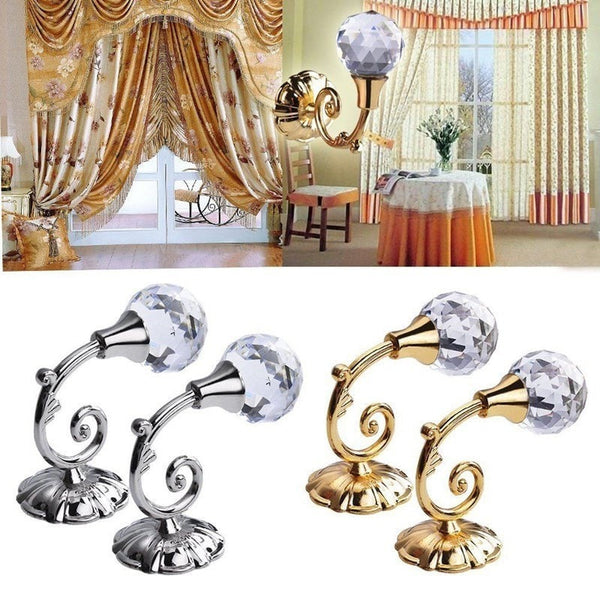 """Diamond"" Curtain Holders-Decorhomium"