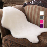 Fur Plain Fluffy Area Rugs-Decorhomium