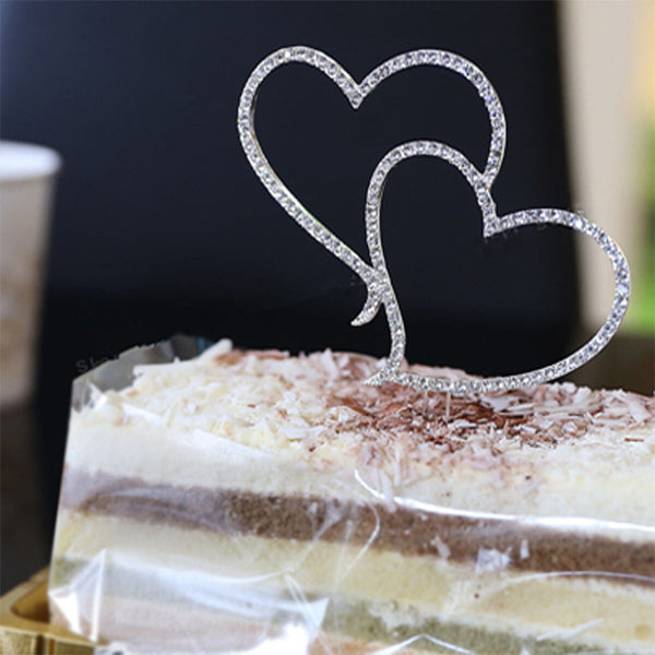 Heart Cake Topper Wedding Decoration-Decorhomium