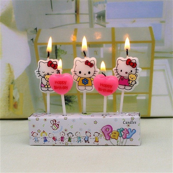 """Hello Kitty"" Birthday Cake Candles-Decorhomium"