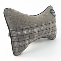 High Quality Plaid Car Pillow-Decorhomium