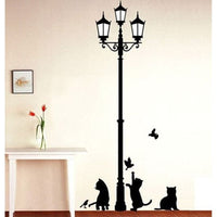 """Lamp and Cats"" Wall Sticker-Decorhomium"