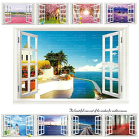 """Landscape from the Window"" 3D Wall Sticker-Decorhomium"