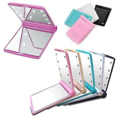 LED Light Foldable Makeup Mirror-Decorhomium