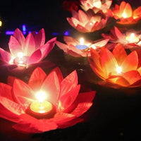 """Lotus Flower"" Candle Lamp-Decorhomium"