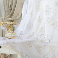 """Modern Flower"" Curtain-Decorhomium"