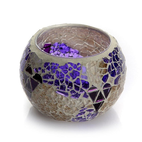 """Mosaic Glass"" Candle Holder-Decorhomium"