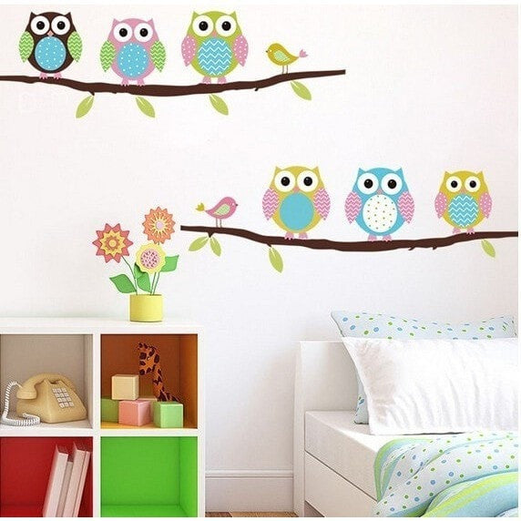 """Owls"" Wall Sticker-Decorhomium"