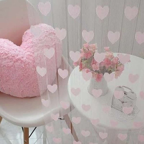 """Pink Hearts"" Curtain-Decorhomium"