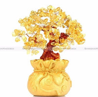 Pretty Citrine Crystal Gem Tree-Decorhomium