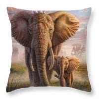 """Elephant Family"" Cushion"