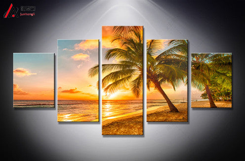"""Sunset"" Canvas Oil Painting Set"