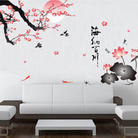 Flower Birds Wall Stickers