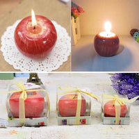 """Red Apple"" Candle-Decorhomium"