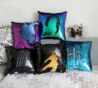 Reversible Mermaid Sequin pillow-Decorhomium