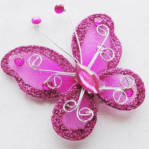 """Rhinestone Butterfly"" Decorations-Decorhomium"