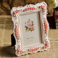 Rose Resin Photo Frame-Decorhomium