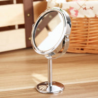 Round Table Mirror Double-sided Rotatable Mirror-Decorhomium