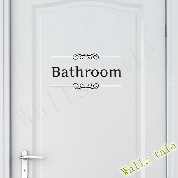 """Toilet and Bathroom"" Sticker-Decorhomium"