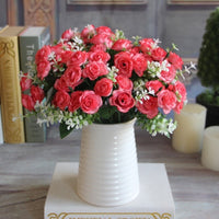"""Vivid Roses"" Artificial Silk Flower-Decorhomium"