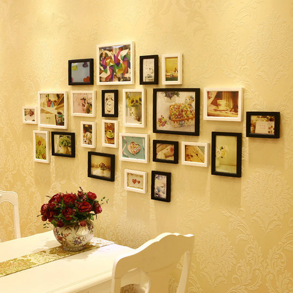 Wood Photo Frame Wall Picture-Decorhomium