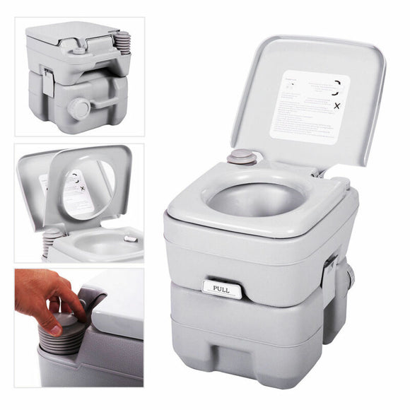 5 Gallon 20L Portable Toilet Flush Travel, Camping, Commode, Potty, Outdoor/Indoor - AmazinTrends.com