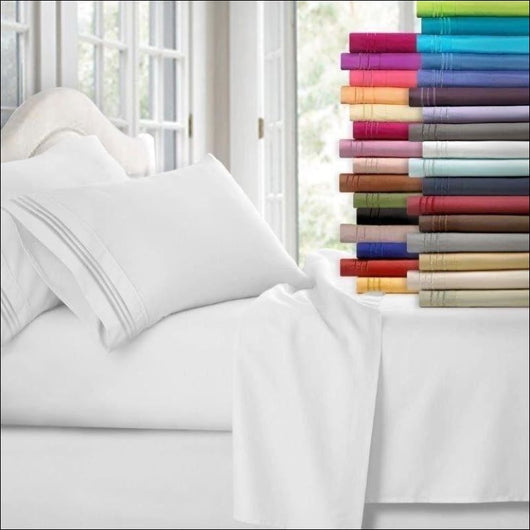 1800 Count 4 Piece Deep Pocket Bed Sheet Set Egyptian Comfort - AmazinTrends.com