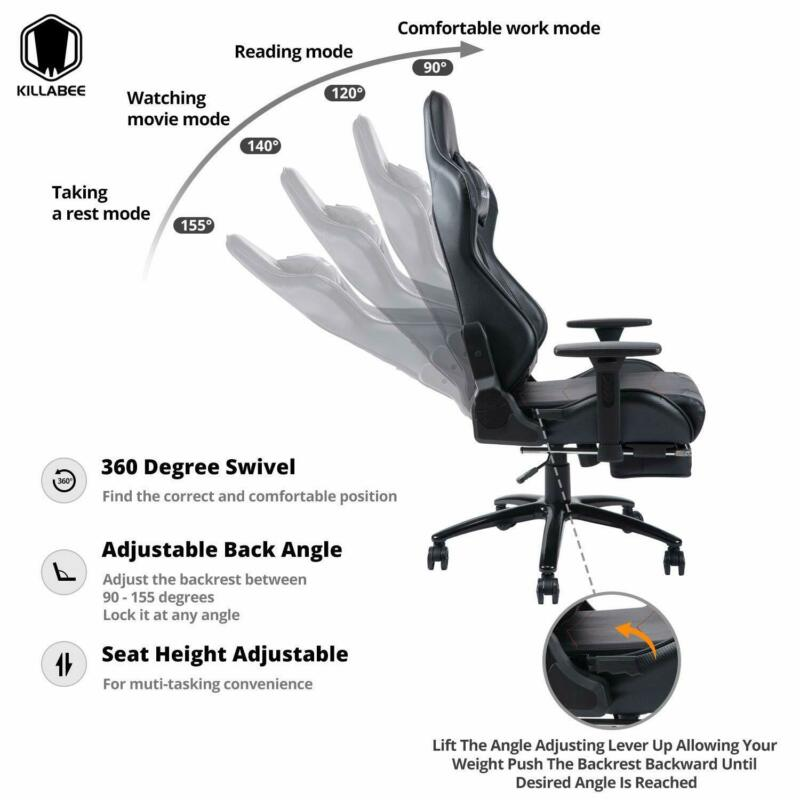 Remarkable Killabee Big And Tall 350Lb Massage Memory Foam Gaming Chair Office Chair Black Pdpeps Interior Chair Design Pdpepsorg