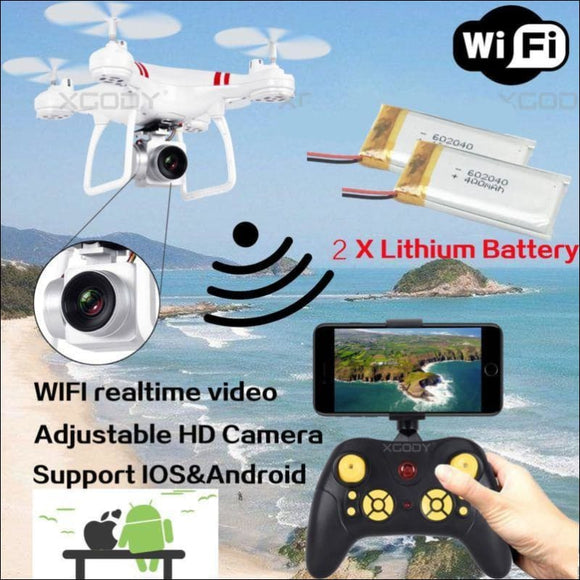 2 Battery WIFI Camera Drone FPV 2.4Ghz 4CH 6-Axis RC Quadcopter HD RTF Explorer - AmazinTrends.com