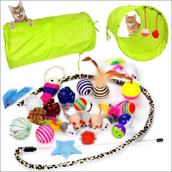 24 Pieces Cat Toys Kitten Toys Assortments GREAT VALUE - AmazinTrends.com