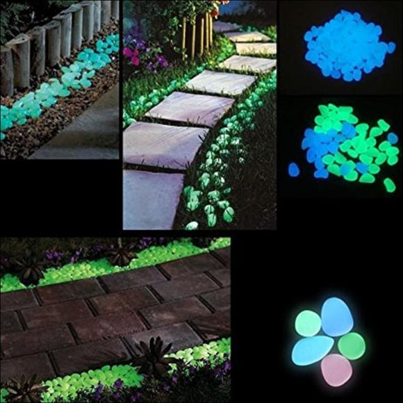 240Pcs/set Luminous Resin Night Pebble Stone - AmazinTrends.com