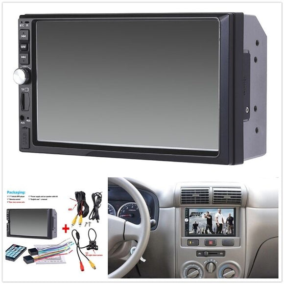 MP5 Player Bluetooth Touch Screen Stereo Radio HD+Rear Camera 1x 7 inch 2DIN Car - AmazinTrends.com