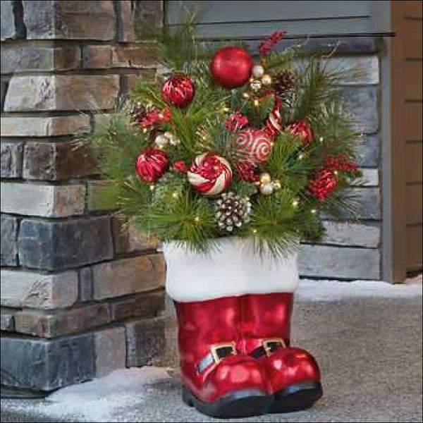 "36"" Santa Boots Holiday Arrangement 🎅💐🤶 - AmazinTrends.com"