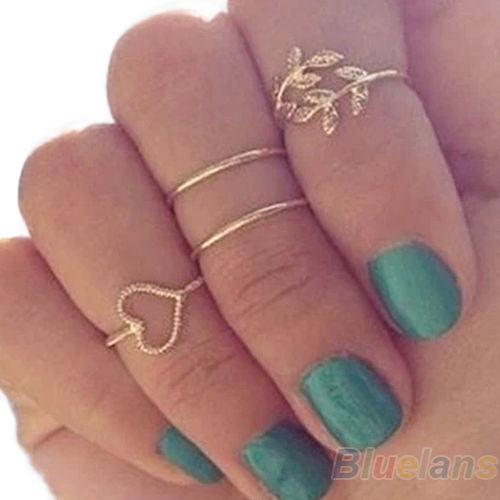 4PCS/Set Rings Urban Gold Plated - AmazinTrends.com