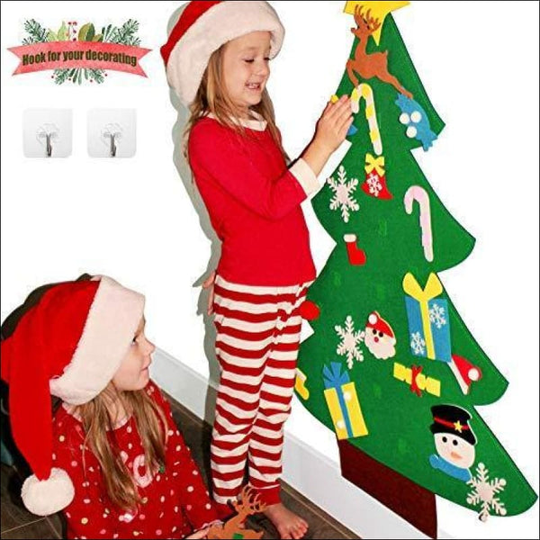 3ft DIY Felt Christmas Tree Sets +26pcs DIY Christmas Ornaments for Kids - AmazinTrends.com