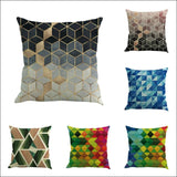 45*45 Geometry Painting Linen  Pillowcases geometric - AmazinTrends.com