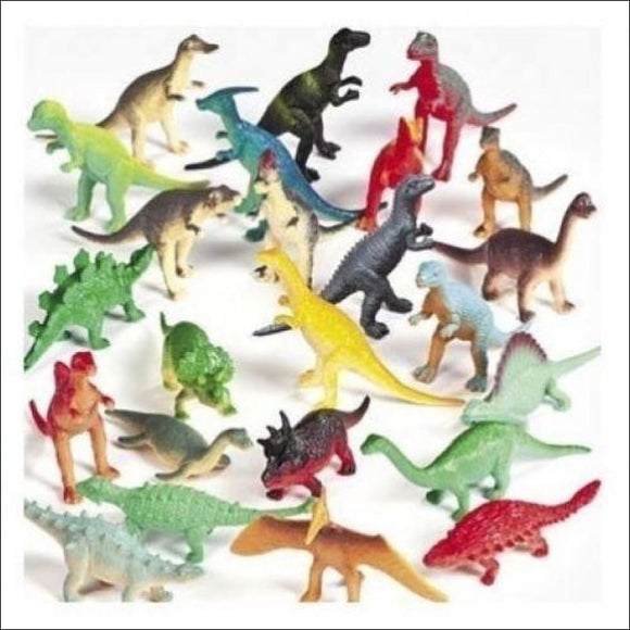 50 Vinyl DINOSAURS Birthday Party Favors, Stocking Stuffer, Cake Toppers, Bulk Dino, - AmazinTrends.com