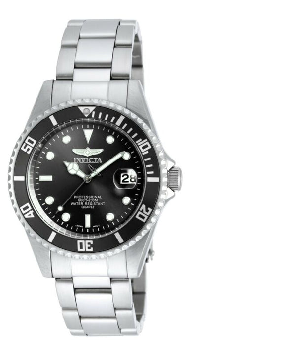 Invicta 8932OB Men's Pro Diver Black Dial, SS Bracelet Dive Watch, - AmazinTrends.com