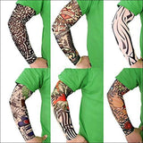 6pcs Set Arts Fake Temporary Tattoo, Arm Sunscreen Sleeves - AmazinTrends.com