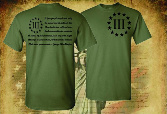 THREE PERCENTER PATRIOT APPAREL USA T-SHIRT - AmazinTrends.com