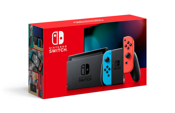 Nintendo Switch Console with Neon Blue & Red Joy-Con, HACSKABAA *Perfect Condition* - AmazinTrends.com