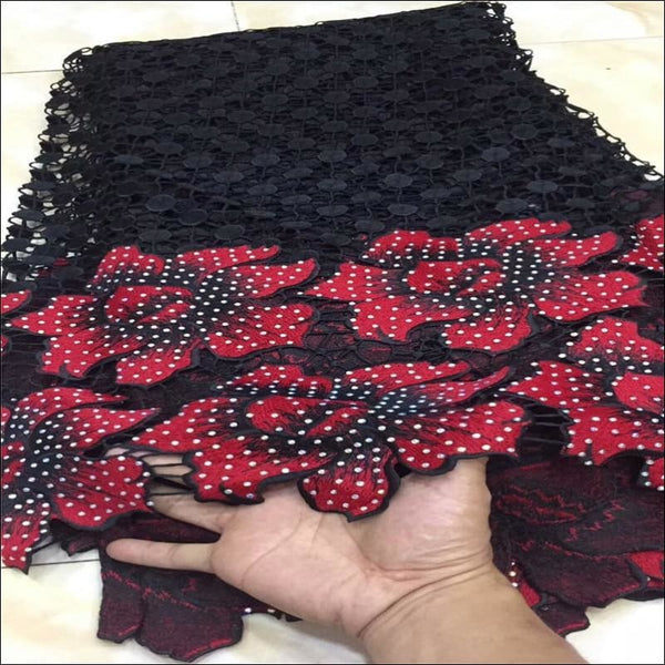 African Cord Stones Lace 5 Yards / lot - AmazinTrends.com