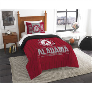 "Alabama OFFICIAL Collegiate, Bedding, """"Modern Take"""" Twin Printed Comforter (64""""x 86"""") & 1 Sham (24""""x 30"""") Set  by The Northwest Company - AmazinTrends.com"