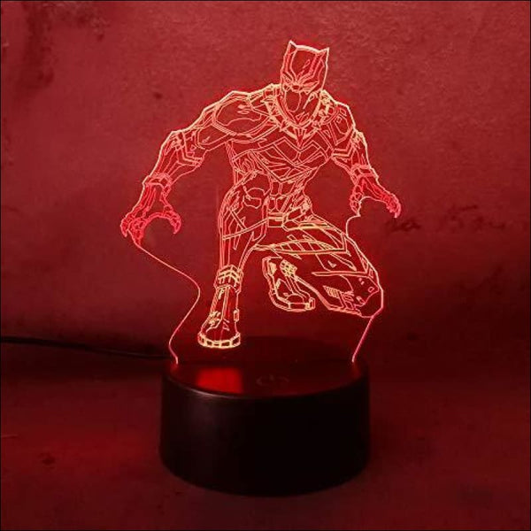 Amroe Night Light Cool Black Panther Marvel Hero LED Lamp - AmazinTrends.com